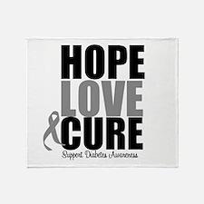 HopeLoveCure Diabetes Throw Blanket