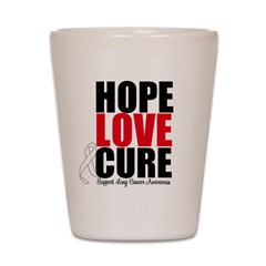 HopeLoveCure LungCancer Shot Glass