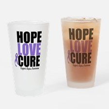 HopeLoveCure Lupus Drinking Glass