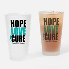 HopeLoveCure PCOS Drinking Glass