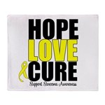 HopeLoveCure Sarcoma Throw Blanket