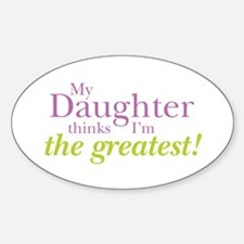 My Daughter Oval Decal
