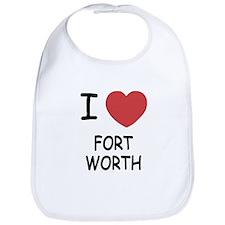 I heart fort worth Bib