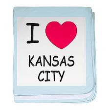 I heart kansas city baby blanket