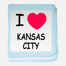 I heart kansas city baby blanket