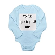 Talk Nerdy to Me Long Sleeve Infant Bodysuit