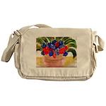 Flowers in Pot Messenger Bag