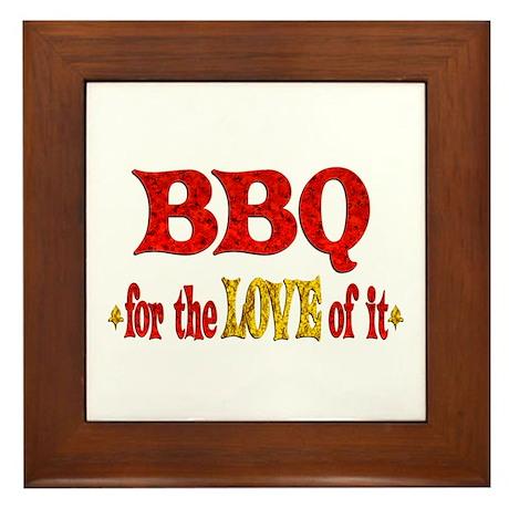 BBQ Love Framed Tile
