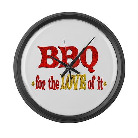 BBQ Love Large Wall Clock