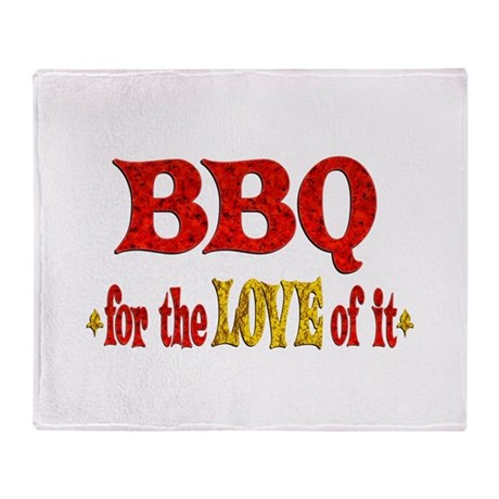 BBQ Love Throw Blanket