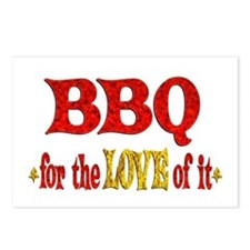 BBQ Love Postcards (Package of 8)
