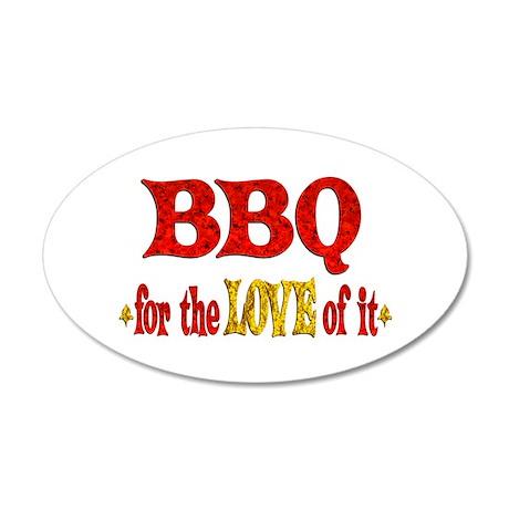 BBQ Love 38.5 x 24.5 Oval Wall Peel