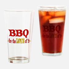 BBQ Love Drinking Glass