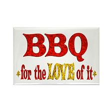 BBQ Love Rectangle Magnet