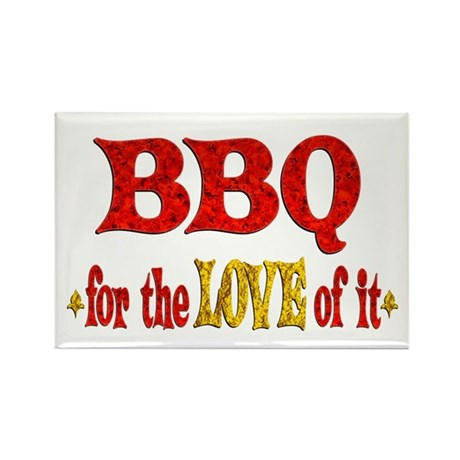 BBQ Love Rectangle Magnet (10 pack)