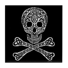 Celtic Skull and Crossbones Tile Coaster