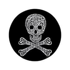 "Celtic Skull and Crossbones 3.5"" Button (100 pack)"