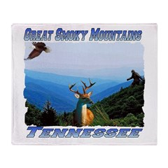 Great Smoky Mtns Tennessee Throw Blanket
