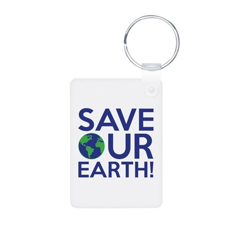 Save Our Earth Aluminum Photo Keychain