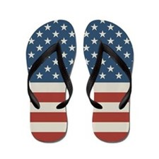 Stars and Stripes Old Flip Flops