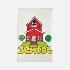 School House Rectangle Magnet