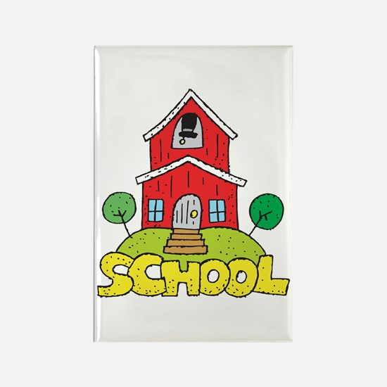 School House Rectangle Magnet