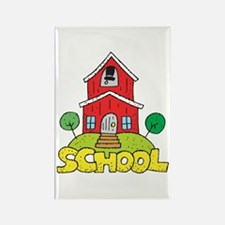 School House Rectangle Magnet (10 pack)