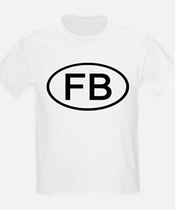 FB - Initial Oval Kids T-Shirt