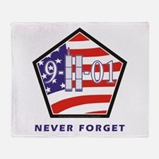 NEVER Forget - Throw Blanket