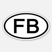 FB - Initial Oval Oval Decal