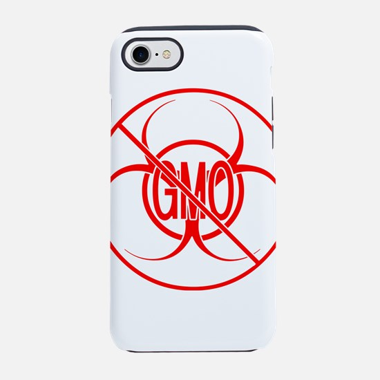 NO GMO Biohazard Warning Toxic iPhone 7 Tough Case
