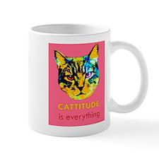 Cattitude in pink Mug