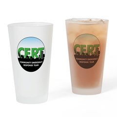 CERT Drinking Glass with round logo