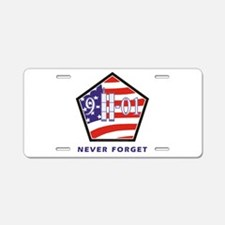 NEVER Forget - Aluminum License Plate