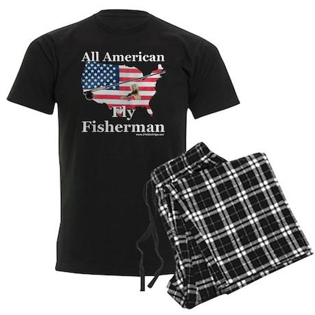 American Fly Fisherman Men's Dark Pajamas