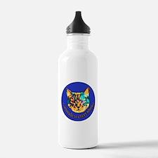 Cattitude in blue Water Bottle