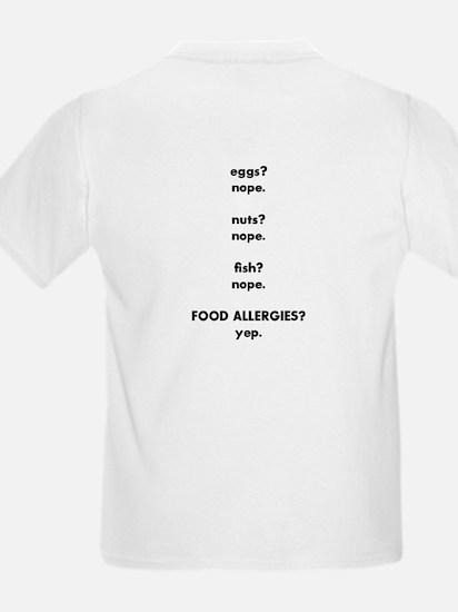 Nope. Food Allergies. T-Shirt