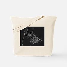 Dramatic Doberman Tote Bag