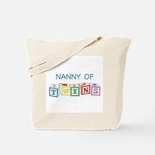 Nanny of Twins Blocks Tote Bag
