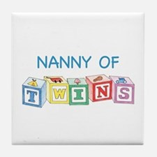 Nanny of Twins Blocks Tile Coaster
