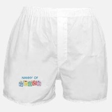 Nanny of Twins Blocks Boxer Shorts
