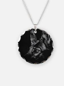 Dramatic German Shepherd Necklace