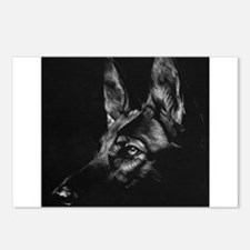 Dramatic German Shepherd Postcards (Package of 8)
