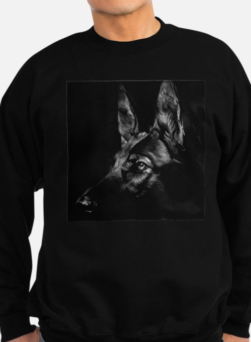 Dramatic German Shepherd Sweatshirt