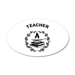 Teacher Theme 22x14 Oval Wall Peel