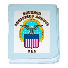 Emblem - Defense Logistics Agency baby blanket
