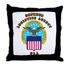 Emblem - Defense Logistics Agency Throw Pillow