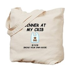 Dinner At My Crib Boob Tote Bag
