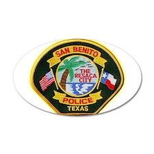 San Benito Police 38.5 x 24.5 Oval Wall Peel