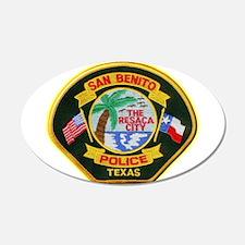 San Benito Police 22x14 Oval Wall Peel